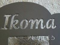 ロートアイアン風錆に強いステンレス製の 名前入りうさぎインターホンカバー