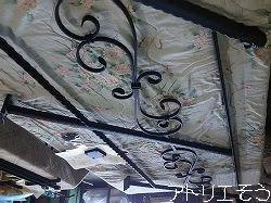 オーダーメイドロートアイアン手摺の出来上がった工場での写真