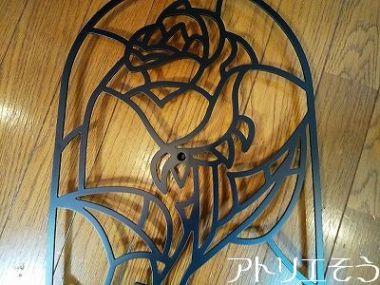 薔薇のガラスドーム妻飾り 。ステンレス製妻飾り。