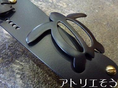 ホヌとモンステラインターホンカバー 錆に強いステンレス製インターホンカバー