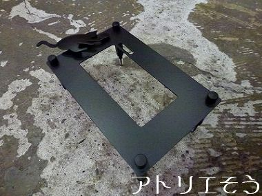 ②猫モチーフのインターホンカバー 錆に強いステンレス製インターホンカバー