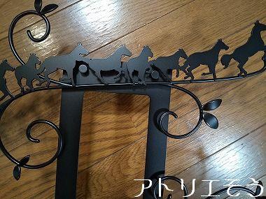 10:馬9頭インターホンカバー 錆に強いステンレス製インターホンカバー
