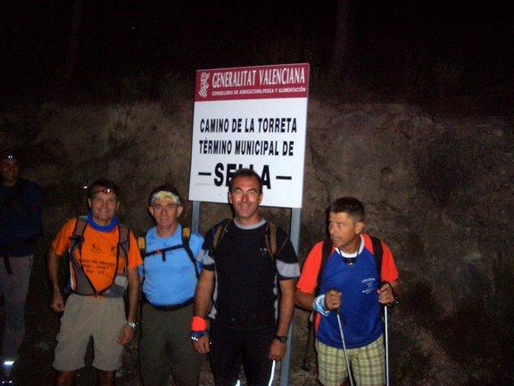 Senderismo nocturno. Ruta circular por las fuentes de la Sierra de Aitana (12-Septiembre-2008)