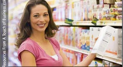 Image of a woman shopping