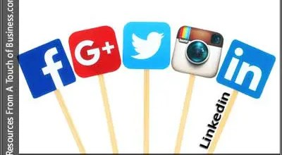 Image of a social media logos on sticks