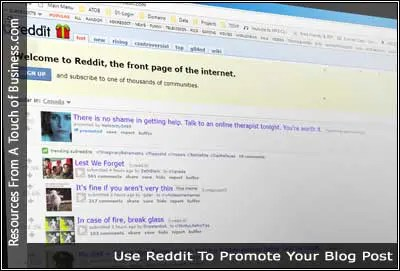 A screenshot of the Reddit website