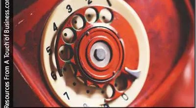 Image of antique rotary phone