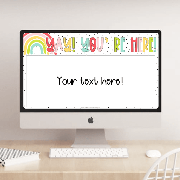 Example of slideshow templates for teachers