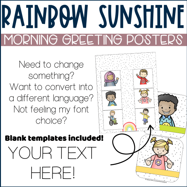 morning greeting posters