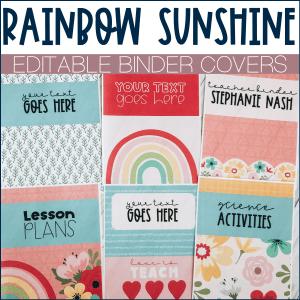 Rainbow binder covers example