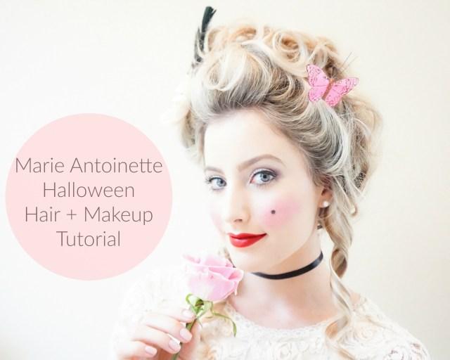 makeup + hair tutorial: marie antoinette halloween look