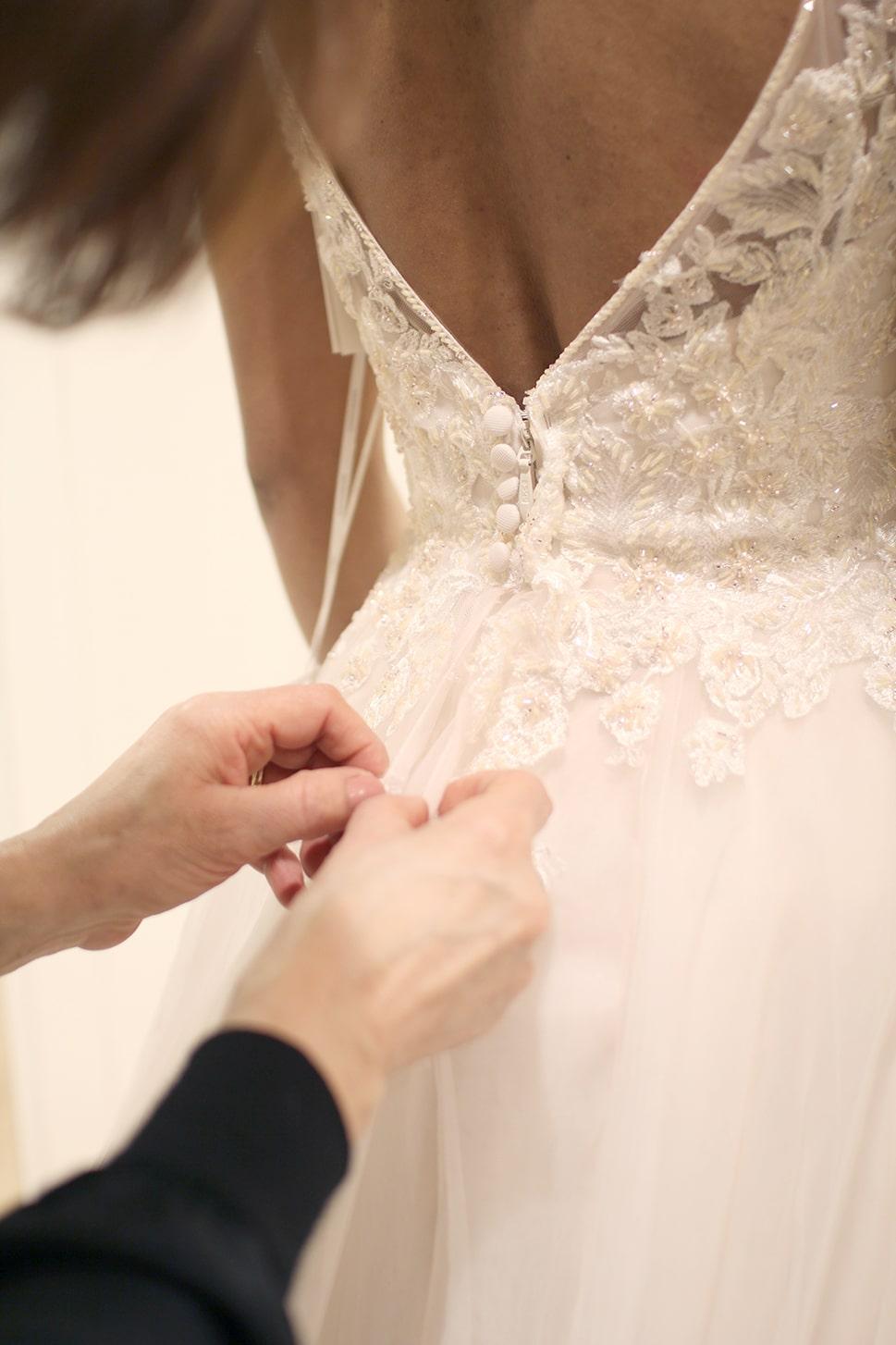 retouche et austement robe de mariée