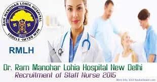 Staff Nurse Jobs Vacancy Ram Manohar Lohiya Hospital
