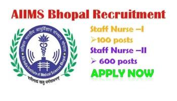 AIIMS Bhopal Recruitment Notification