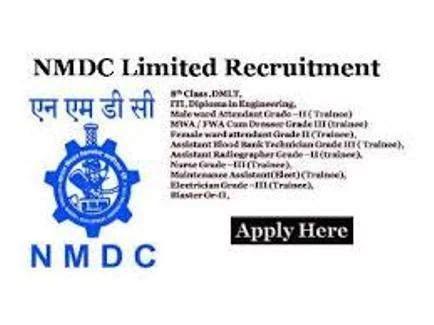 NMDC Limited Staff Nurse Vacancy