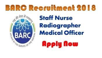 BARC Recruitment 2018