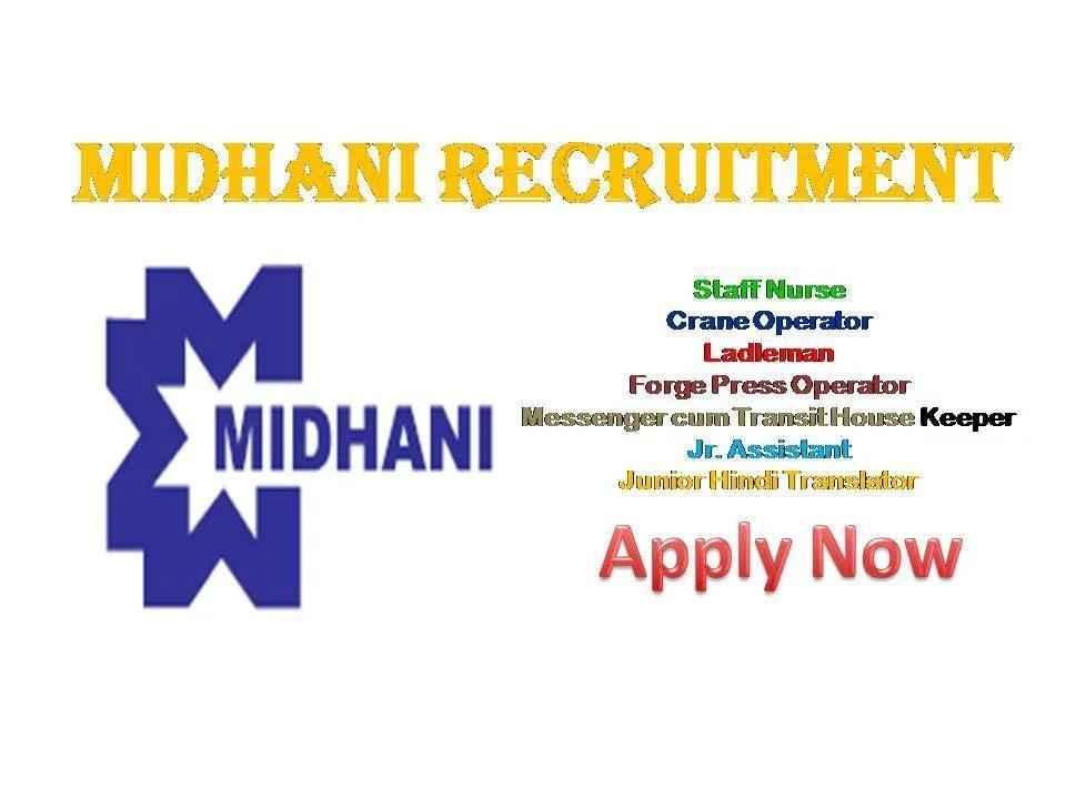MIDHANI Recruitment 2018