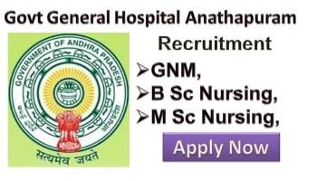 Govt General Hospital Anthapuram Staff Nurse Vacancy