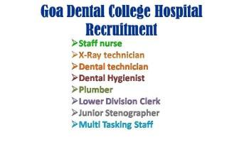 Goa Dental College Recruitment