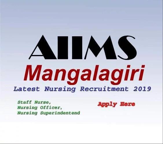 AIIMS Mangalagiri Staff Nurse Vacancy