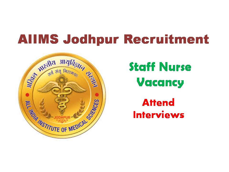 AIIMS Jodhpur Recruitment 2020