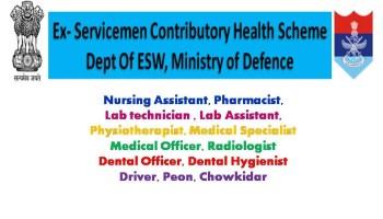 ECHS Recruitment 2019
