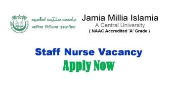 Jamia Millia Islamia Staff Nurse Recruitment