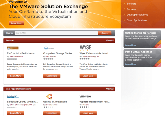 VMware Solution Exchange