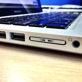 MiniDrive Air in the MacBook Pro. Flush enough to be used.