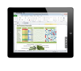 Parallels Access iPad app with Excel for Windows