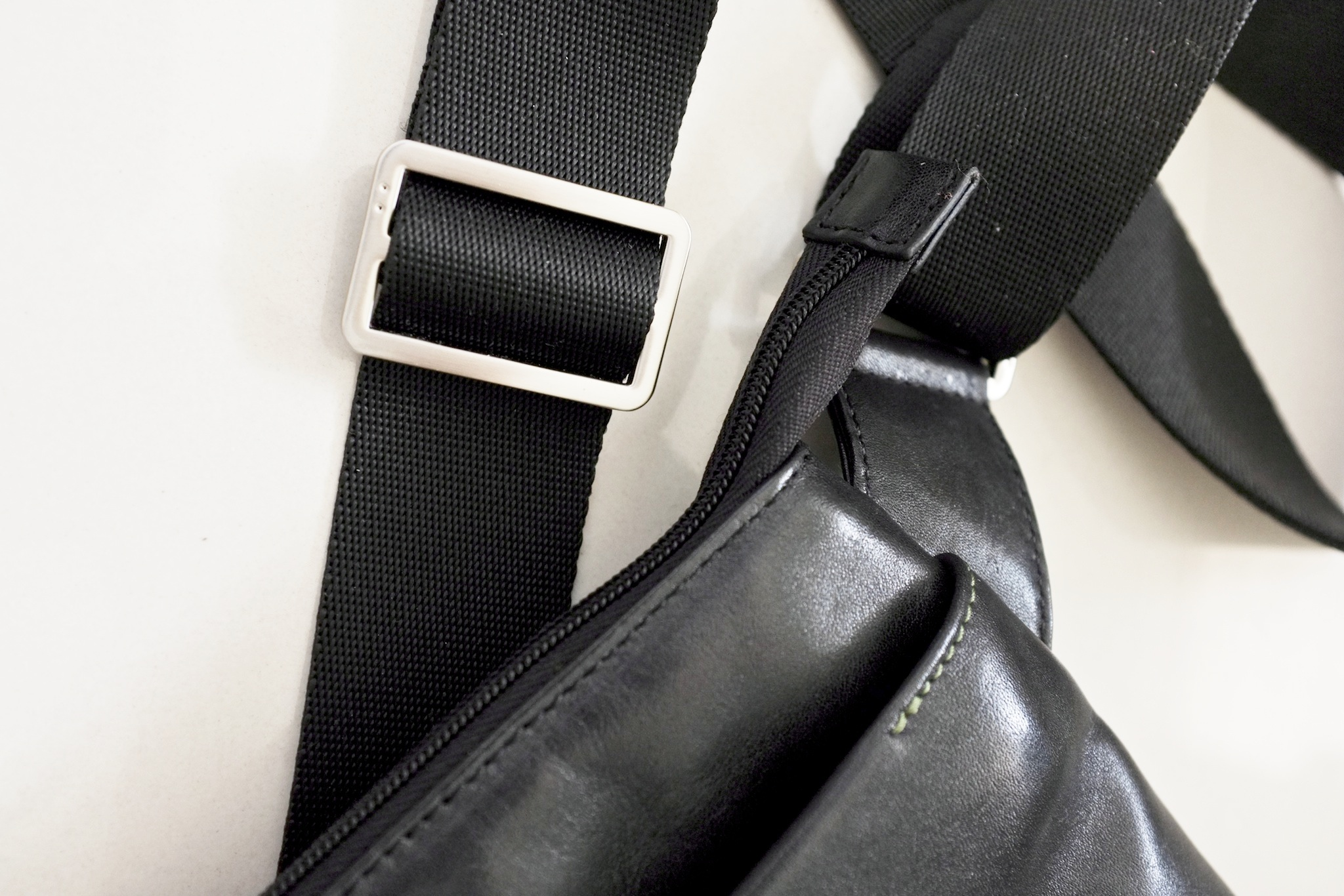 The bag has a broad strap which is comfortable to sling
