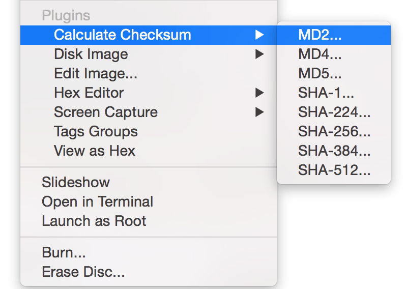 Checksum calculator