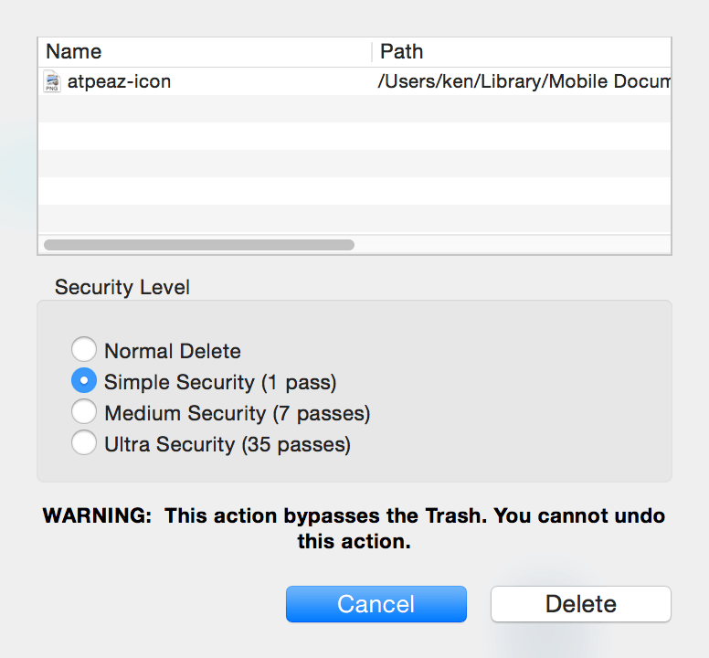 Path Finder Secure Delete