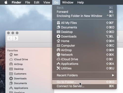 FInder's Go To Folder option