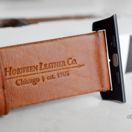 Horween Leather branded on the back of the strap