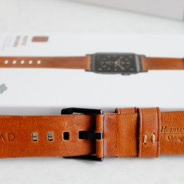 Back of Nomad Horween Leather Strap for Apple Watch