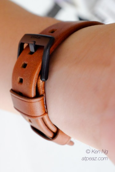 Nomad Horween Leather strap loops snugly