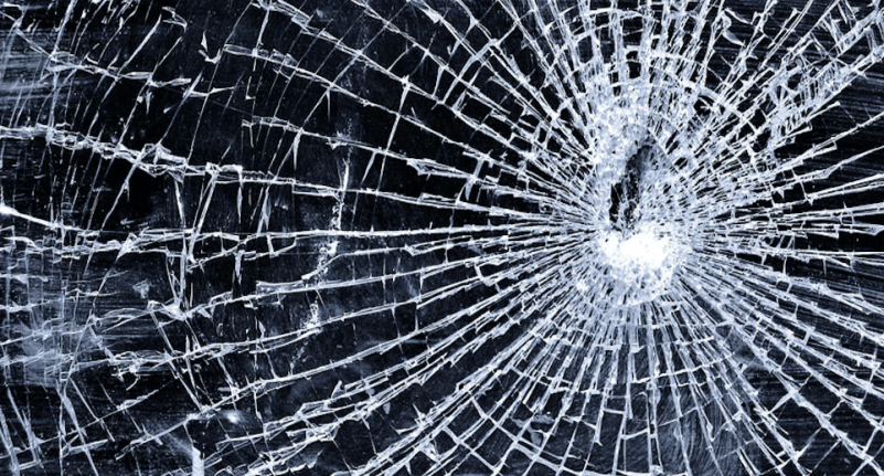 Cracked iPhones Screen