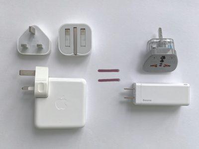 Baseus GaN 65W USB-C charger vs multiple Apple power adapters