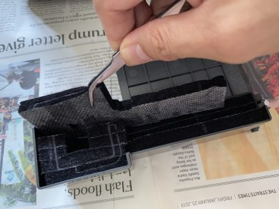 Removing the old ink pads from the Epson L355