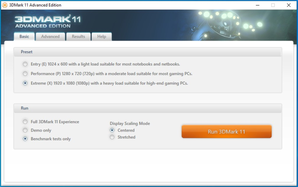 Running 3DMark, a windows game benchmark on Mac with Parallels Desktop