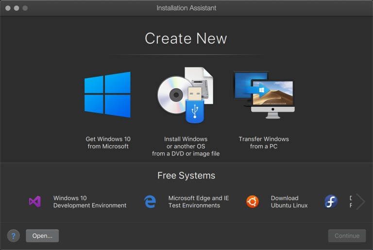 Parallels Desktop Installation Assistant