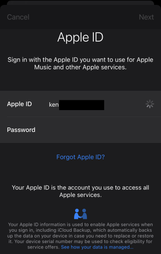 iOS 14 Sign on AppStore with new Apple ID