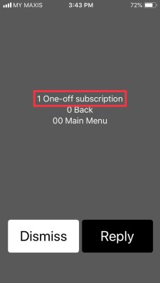 Maxis *100# Easy Menu - 365 Validity - One-off subscription