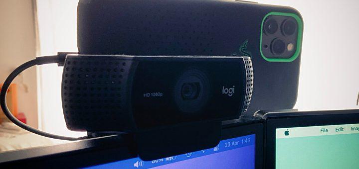 Logitech C922 Pro vs iPhone 11 Pro