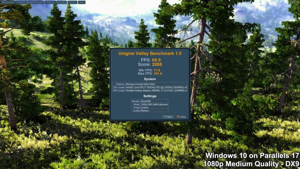 Unigine Valley Benchmark - Windows - Medium Quality - DirectX 9