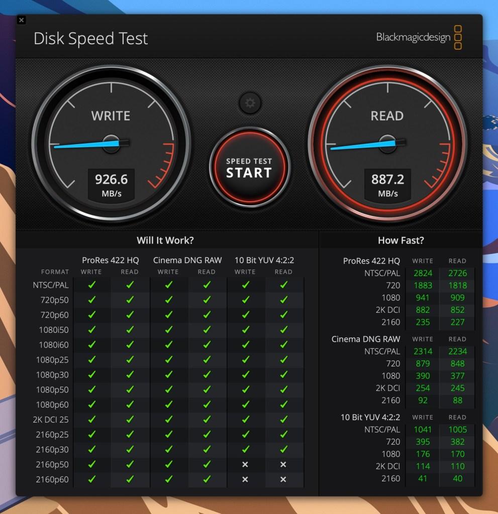Sandisk Extreme SSD E61 - Disk Speed Test - 5GB test
