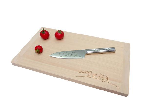 ペティナイフ&日本製ひのきまな板