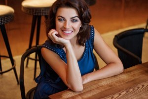 smiling Ukrainian woman from city Dnepr Ukraine