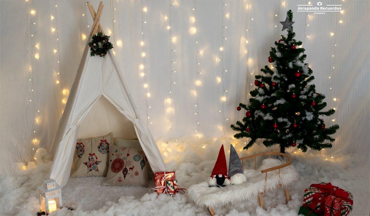 Decorado para sesion de fotos de navidad